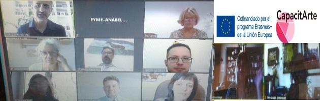 Reunión virtual de coordinación Proyecto Erasmus + ' CapacitArte'