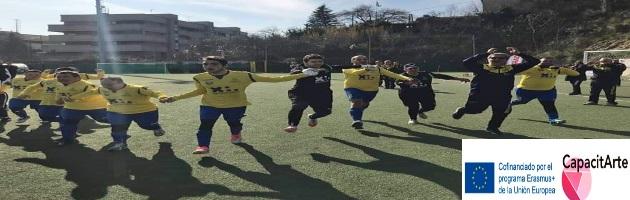 'Capacitarte': jugar al fútbol-Desde Fermo traemos otra actividad de entrenamiento poco convencional