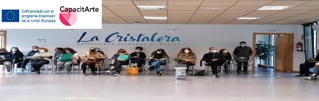 Vídeos y evaluación del Encuentro 'Capacitarte' en la Residencia de La Cristalera, Miraflores de la Sierra